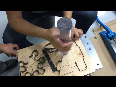 How To Make Cutting Die Board With Laser Cutting Machine And Auto Blade Bending Machine