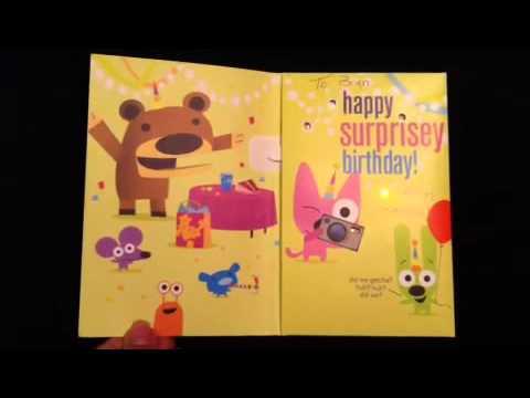 Hoops And Yoyo Birthday Card
