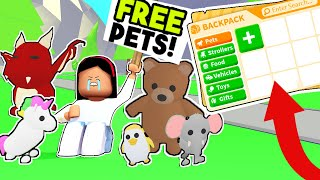 I GAVE AWAY ALL MY PETS in ADOPT ME for FREE! * I LOSE ALL MY PETS* - Roblox