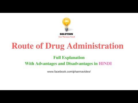 Route of Drug Administration- Full Description ( हिंदी में )