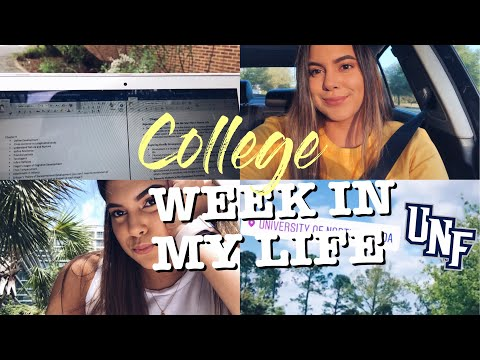 COLLEGE WEEK IN MY LIFE | UNIVERSITY OF NORTH FLORIDA