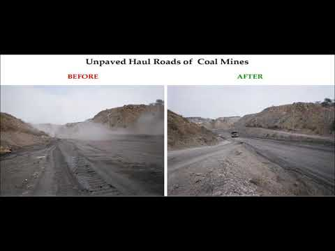 Coal Mines Haul Roads Dust Control By SYNTRON's DUST Suppression DUSTRON PC