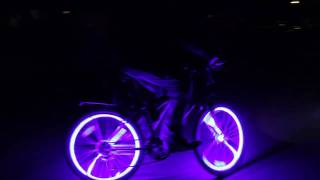 Coolest Thing Ever Crazy Glowing Bikes! Glow Candy! Bicycle LED Lights
