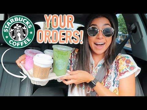 Trying My Follower's Starbucks Drink Orders! | Jeanine Amapola