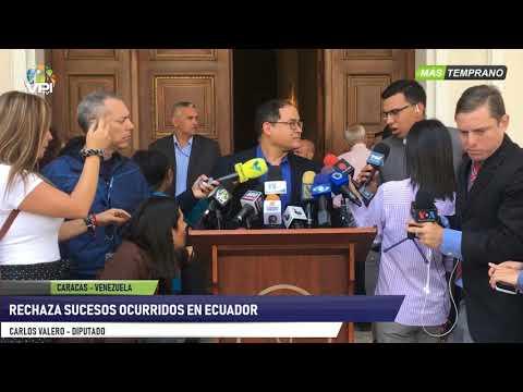 Venezuela- Diputado Carlos Valero pide respeto a connacionales en Ecuador  - VPItv