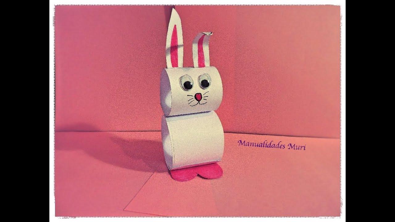 Manualidades, Conejo de papel muy fácil para Pascua. - YouTube