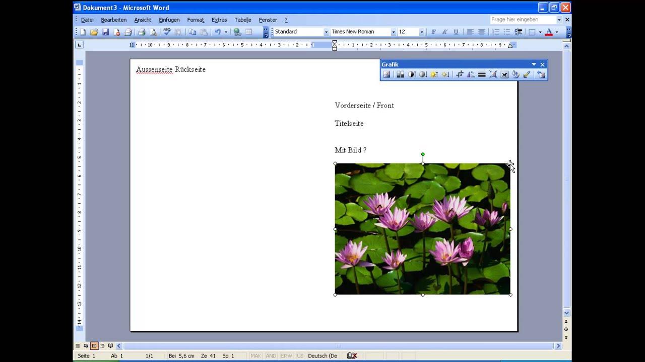 Microsoft Word 2003 Einladung A5  YouTube