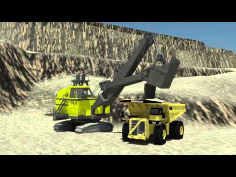 Open Cut Coal Mine Animation