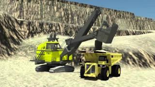 Open Cut Coal Mine Animation