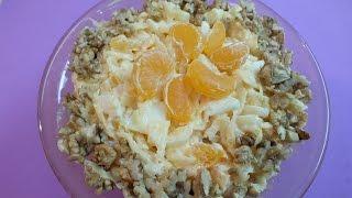 """Салат  """"Солнечный"""" с тыквой и апельсином"""