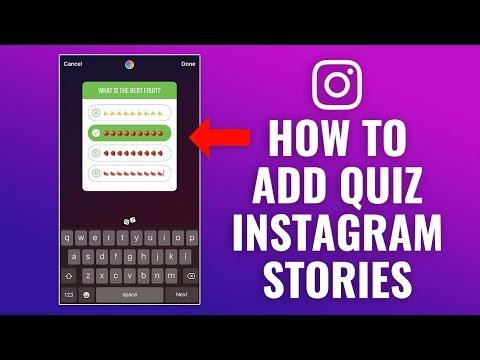How to Add Quiz to Instagram Story