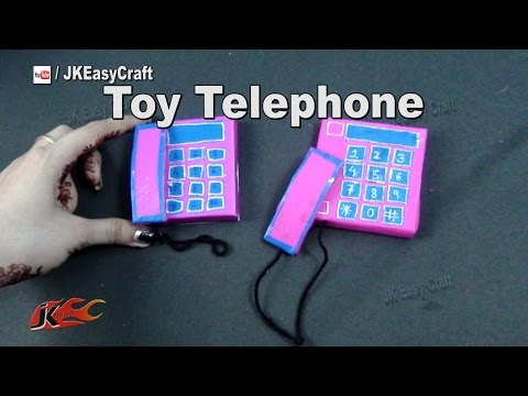 DIY Toy Telephone from waste Matchbox | school project   | JK Easy Craft 165