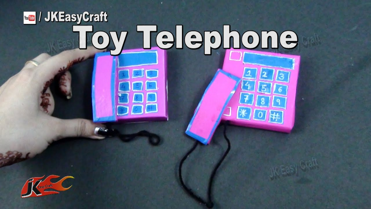 Diy toy telephone from waste matchbox school project for for Best out of waste models