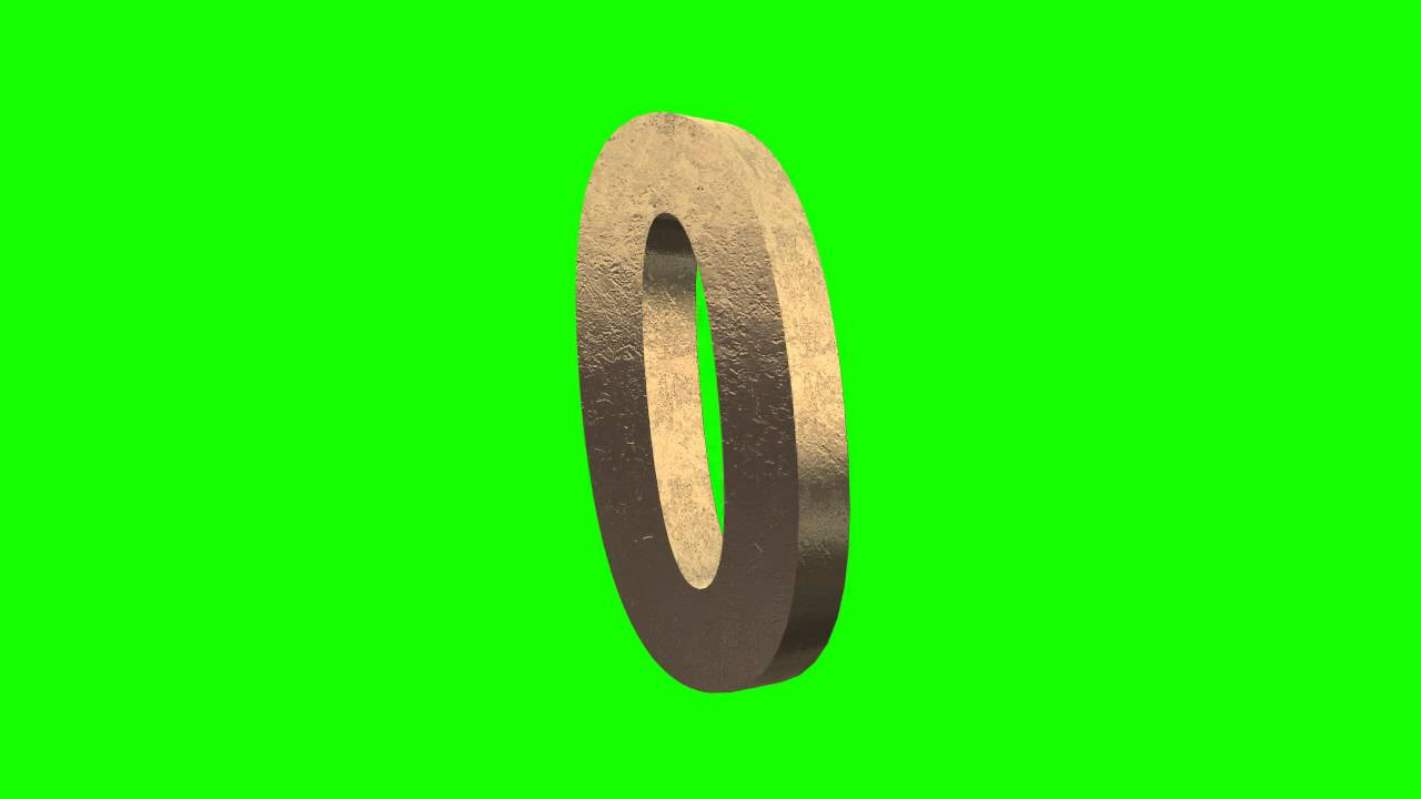 Gold Numbers Animation In Green Screen Free Stock Footage