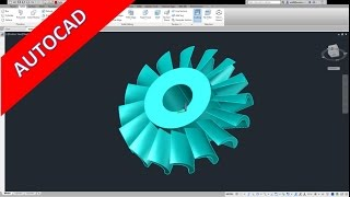 *A* turbine autocad 2013 training - polar array - user coordinate system