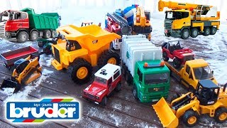 Cars for kids Construction Trucks Crash Bruder Cars Toys Video #Машинки для детей