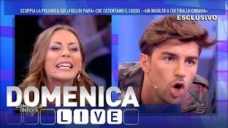 Domenica Live - Lite tra Karina Cascella e Andrea Damante
