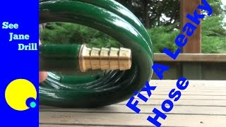 How to Repair a Coil Garden Hose on the Cheap