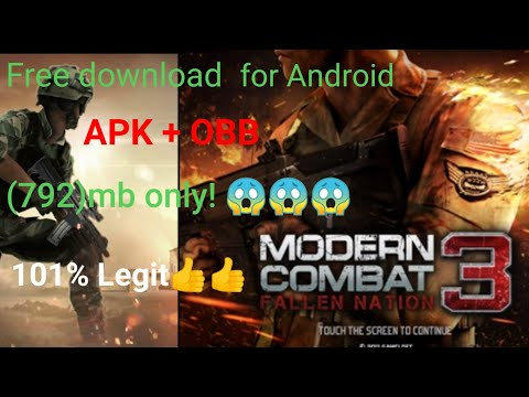 Modern Combat 3 Free Download For Android || Highly Compressed