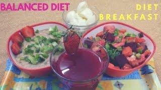 Healthy Balanced Diet Menu Breakfast Horse gram Millet Soup Mixed Salad Pomegranate Juice