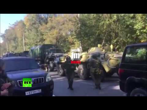 Crimea School Attack: Armored vehicles and military at the scene