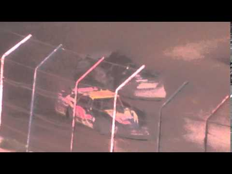 """Dog Hollow Speedway - 7/4/2014 Independence Day """"Top Dog 50"""", Super Late Model Finish"""