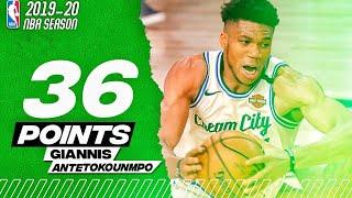 Giannis antetokounmpo Full highlights Vs Houston Rockets - 36 points - NBA SEASON 2019/20