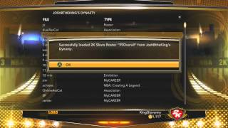 NBA 2K13 how to make a 99 overall my career (usable online)