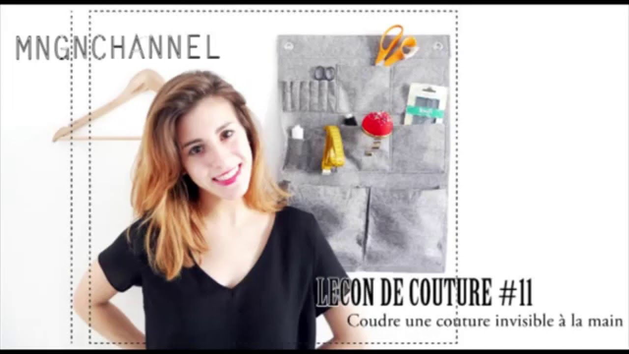 Le on de couture 11 coudre un point invisible la main for Couture a la main invisible