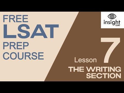 LSAT Writing Section Insight LSAT Mini LSAT Prep Course (Lesson 7