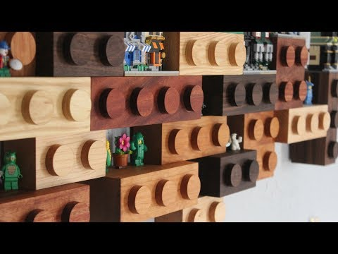 Making a Shelf Out of Wooden Lego Bricks