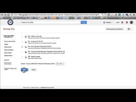Google Sites Change Permissions