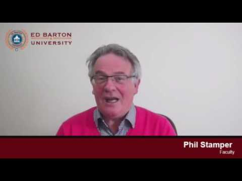 Ed Barton University Faculty Member Mr  Phil Stamper Shares a word About The University SD