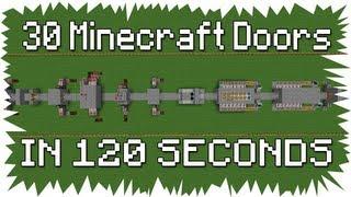Minecraft: 30 Doors in 120 Seconds