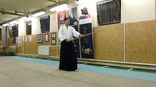 katate toma uchi - jo [TUTORIAL] Aikido basic weapon technique /katate no bu