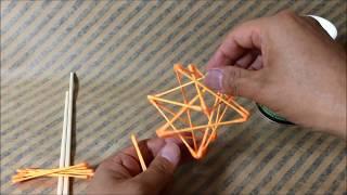 綿棒で小星型12面体(ホシノタネ)を作る!