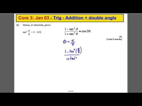 Core 3 Past Paper Questions - Trig double angle
