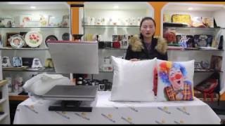 how to transfer pillow with sublimation paper and heat press machine
