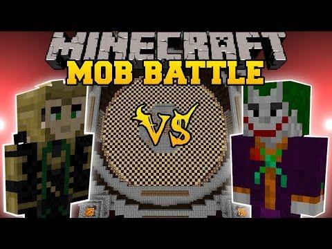 LOKI VS JOKER - Minecraft Mod Battle - Mob Battles - Superheroes Unlimited & Super Villains Mods