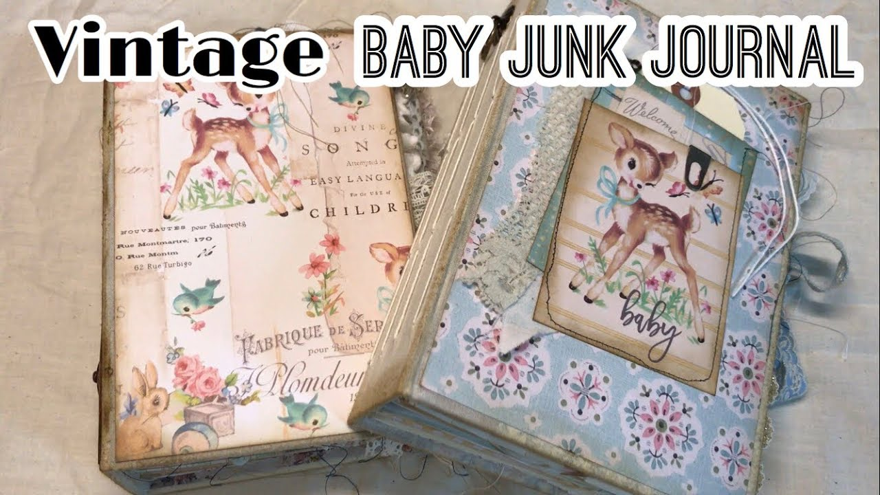 Vintage baby junk journals / Baby Book ideas / Prima Heaven Sent | I'm A  Cool Mom