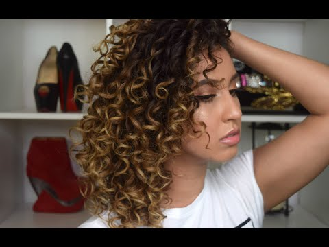 my curly hair routine perfect defined curls youtube