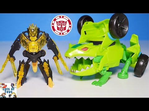 Springload vs Mini Con Swelter! Transformers Robots in Disguise Decepticons Lots of Toys