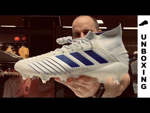 Él Fruncir el ceño cadena  adidas Predator 19.1 SG Virtuso Pack - White/Bold Blue - YouTube