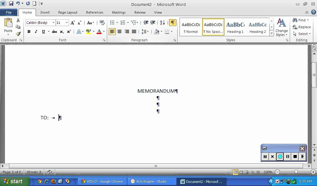 Construct A Memo Using Proper Format In Word YouTube