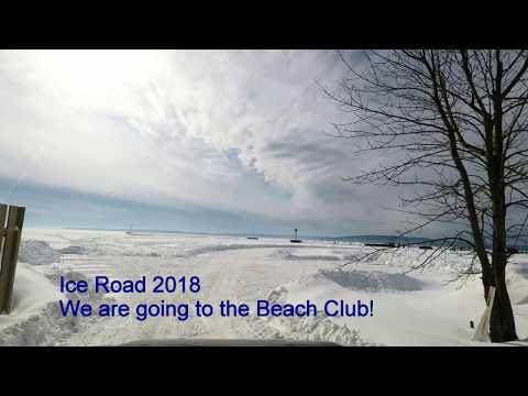 Ice Road Bayfield, WI to Madeline Island 2018