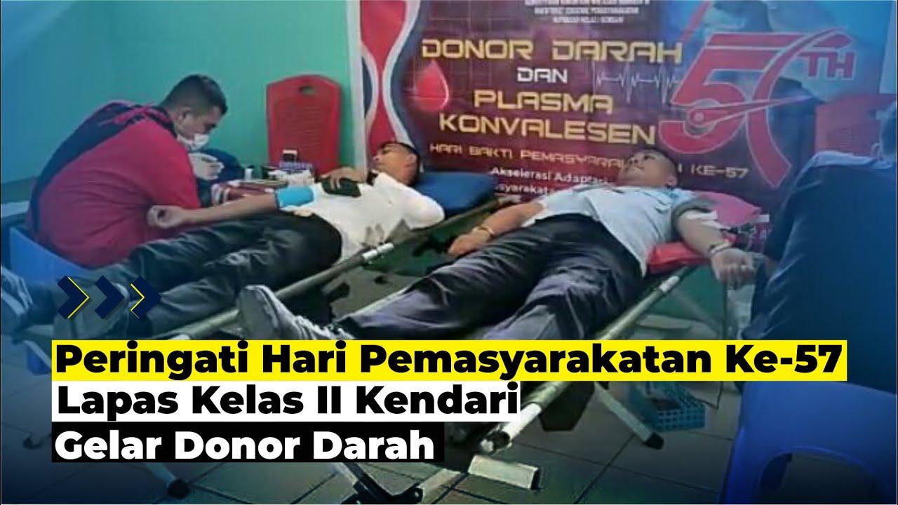 Lapas Kelas II Kendari Gelar Donor Darah