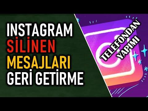 Instagram Silinen Mesajları Geri Getirme | Telefondan (Android)