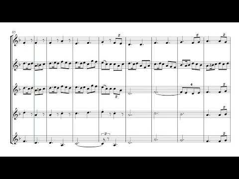 English Folk Song Suite - brass quintet