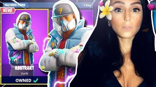 "MENINA desbloqueia LEVEL 100 em Fortnite! -NOVO ""Abstrakt"" GAMEPLAY pele! -Battle Royale do Fortnite ao vivo"
