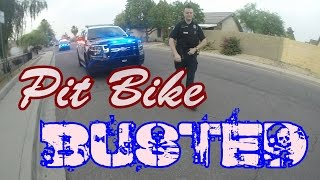 Pit bike Pulled over by  cops - GoPro